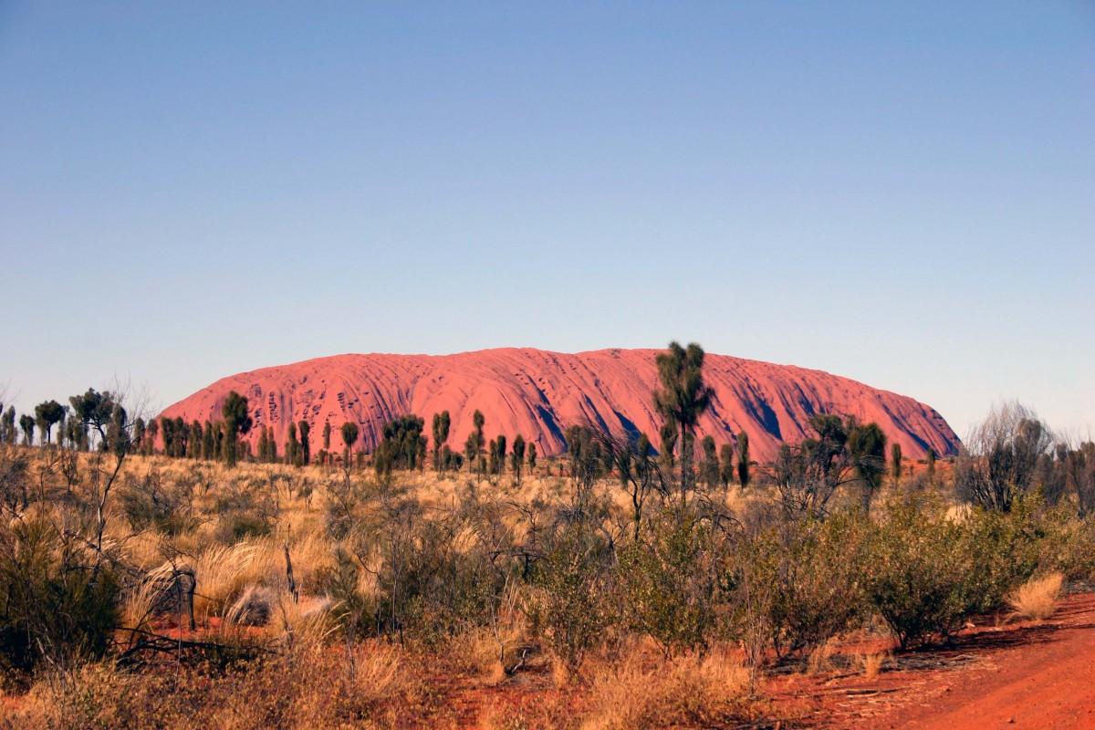 first view Uluru