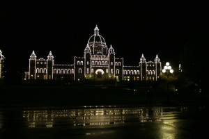 Legislative Building at night, Victoria