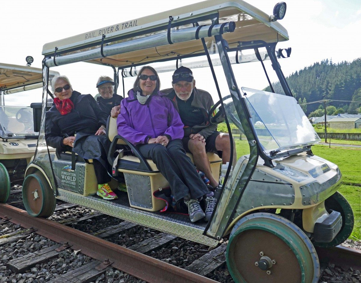 Forgotten World Rail Cart Adventure – riding the rails in a golf cart!