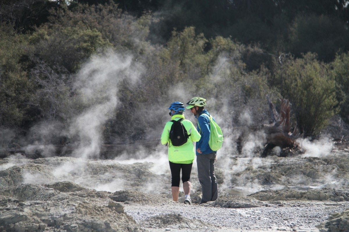 Riding the thermal track in Rotorua